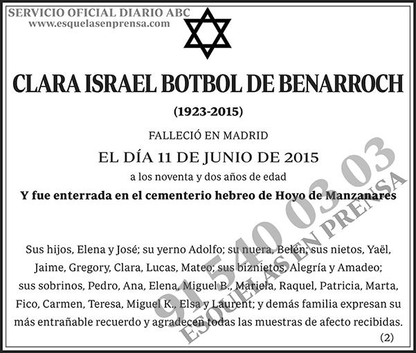 Clara Israel Botbol de Benarroch